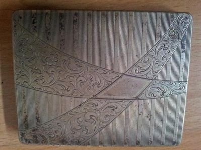 Zigarettenetui Silber Jugendstil original antik Ornament - Plettenberg