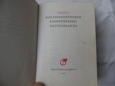 Statut der SED DDR 1975 - Kolkwitz