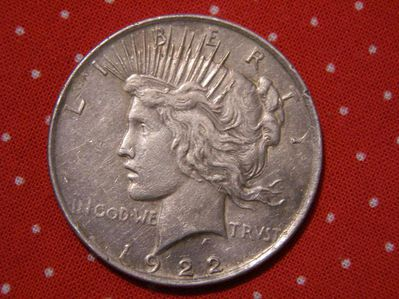 USA Peace Dollar 1922,900er Silber-Lot 785 - Reinheim
