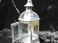 Nostalgische Gartenlaterne - Laterne Antik Stil / Metall Windlicht, 28 cm / NEU - Zeuthen
