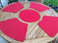 Platzdeckchen rot  6 Stück und 1 rundes - Gladbeck