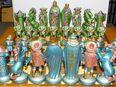 Schach Schachspiel Zinn Figuren Mittelalter Reinzinn Handbemalt in 73565