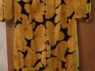 Sommerkleid Seide gelb/schwarz - Friedenweiler