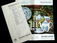 alte Broschüre von Burgenland Service Villeroy & Boch - Niederfischbach