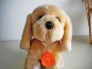 Masudaya,Japan-Plüsch-Hund mit Funktion,Batteriebetrieb,mit Plakette,Alt,ca. 30 cm - Linnich