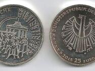25 Euro Silbermünze BRD 25 Jahre Deutsche Einheit 2015 - Bremen