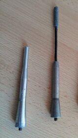 2 x Stück Universal Aluminium Kurzstabantenne 16V 12/17 cm Länge M5 Gewinde