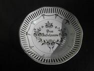 """Durchbruch Porzellan Schale """"Dem Jubelpaare"""" 24 cm Deko Retro Vintage 7,- - Flensburg"""