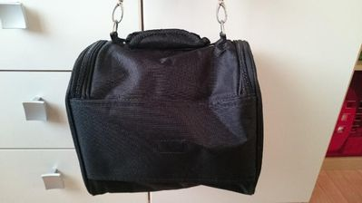 schwarze Reisetasche, große Kulturtasche von Leonardo - Kahl (Main)