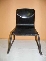 70er Jahre THUR-OP-SEAT Stapelstuhl / Schulstuhl / Kinderstuhl aus Pagholz