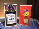 Geschenkpackung Cognac Martell Vater-Feuer um 1970 ungeöffnet / sehr selten