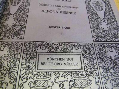 Der rasende Roland von Ludovico Ariosto Band 1 und 2 + kleinere Werke 1908 - Zeuthen