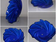 große Blauglas Glasschale Schale Schüssel Platte blauer Teller arcoroc - Nürnberg