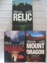 6 Thriller von Preston & Child, Burn Case, Dark Secret,Ritual,Fear