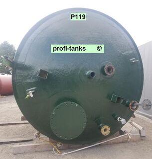 P119 gebrauchter 28.800 L GF-UP Tank doppelwandiger Kunststofftank Flachbodentank Eisen(II)Chlorid-Tank Wassertank Flüssigfuttertank Molketank - Nordhorn