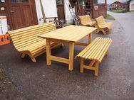 Massivholz Gartenmöbel fertig lasiert HANDARBEIT - Tyrlaching