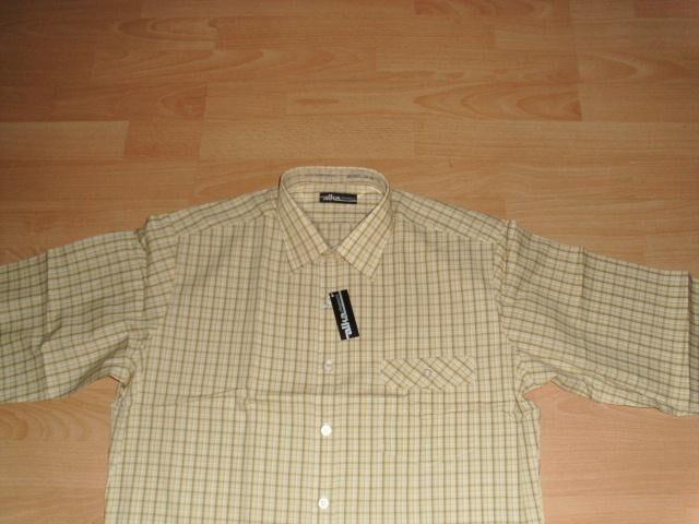 Hemd von Alka, beige kariert, Gr. 39/40 ( M / 48) Neu - Bad Harzburg Zentrum