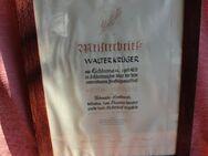 Schmiede-Meisterbrief im verglasten Vollholzrahmen von 1952 - Bad Belzig