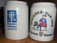 Bierkrug Steingut Germania Pils Sommerbiwak 1978 Augustiner Brauerei - Bottrop