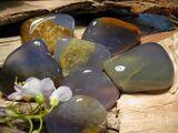 Chalcedon, blau Trommelstein, Heilstein