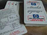 Hamburg HSV Kartenspiel Werbung Sharp