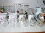 Sammelgläser Gläser Tassen Haferl Glaskrüge Schnapskrüge Karaffe
