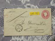 Baden 3 Kreuzer Ganzsachen  Briefumschlag 1865/66,Lot 84