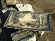Zeichnung/Aquarell: Waldszene, gerahmt/hinter Glas - Frankfurt (Main)