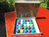 Fädelspiel, Kugelsolo Spielzeug aus der ehemaligen DDR um 1970 / D.R.P. 648436