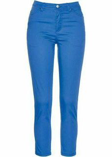 DAMEN 7/8 STRETCH HOSE VON BONPRIX COLLECTION IN BLAU GR. 40 NEU - Reinheim