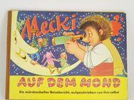 Mecki auf dem Mond 1.Auflage 1959 Band 8 Bilderbuch Hammerich & Lesser Verlag - Großhansdorf