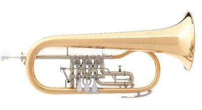 B & S 3017/2TR-L Goldmessing Konzert - Flügelhorn, Neuware / OVP - Hagenburg