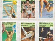 Olympia-Briefmarken 1992 Barcelona von Nicaragua -2 (355) - Hamburg