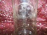 Antiker Bierkrug Zinndeckel + Spruch / mundgeblasen, Jugendstil ca.1890 / 0,5 L - Zeuthen