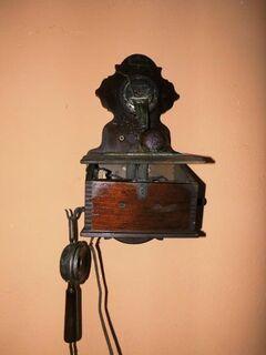 Antike Fernsprechwandstation Stf M1900 von F. Schuchardt ca. 1900 / Restauration - Zeuthen