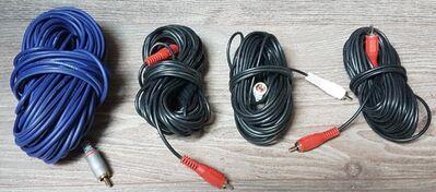 4 x Stück Video / Audio Mono Cinch Kabel mit 10 - 20 Meter lang - Verden (Aller) Zentrum