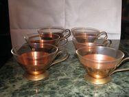 Tee-Tassen, Vintage, ca. 1965, 6 Stück, sehr gut erhalten, Sammler - Sehnde