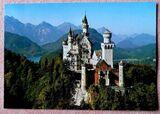 Farbige Ansichtskarte Königsschloß Neuschwanstein