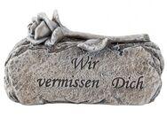 Grabschmuck SteinDeko Grabstein mit Gravur Inschrift Wir vermissen Dich. - Uslar