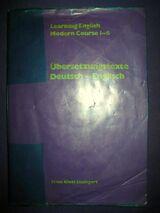 """Schulbuch """"Learning English, Modern Course 1 - 6, Übersetzungstexte Deutsch - Englisch"""", 31 Seiten, Ernst Klett Verlag, ISBN: 3125110203, 3,- €"""