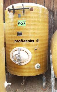 P67 gebrauchter 2.100L Polyestertank GFK-Tank Lagerbehälter Container Wassertank Futtermitteltank Molketank Melassetank Regenauffangtank Zisterne - Nordhorn