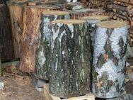 37er Hackklotz aus Birke, um sich selber sein Brennholz zu hacken; Hauklotz - Bad Belzig