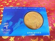 5 Dollars Sydney 2000 CoinCard / Olympia / LEICHTATHLETIK / 1 of 28 / 20g - Zeuthen
