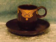 Mokkagedeck Rosenthal Studioline Keramik Form ohne Name Dekor Bodin VINTAGE - Zeuthen