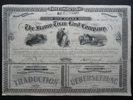 Historisches Wertpapier. The Franco-Texan Land Company, one Share, Dallas, Texas 1876 - Königsbach-Stein