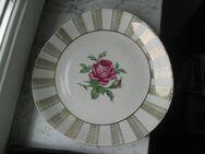 Porzellan Kuchenteller Rose Gold Nierenform Teller 29 cm Vintage 4,- - Flensburg