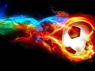 brennender Fußball 61x103 cm