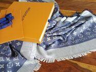 Louis Vuitton Tuch Schal Denim Blau Tücher Monogram LV