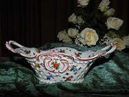 Antike Durchbruch Schale C. G. Schierholz & Sohn / Plaue Keramik um 1900 / TOP - Zeuthen