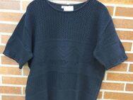 Pulli Pullover Shirt 1/2 Arm Strick mit Lochmuster schwarz Gr: 42 - Immenhausen
